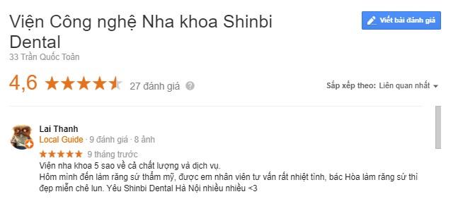 địa chỉ nha khoa shinbi có tốt không