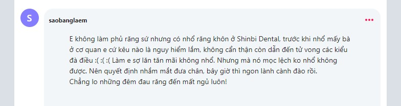 Review nha khoa shinbi dental