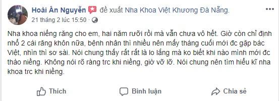 Trung tâm nha khoa Việt Khương Đà Nẵng tốt không