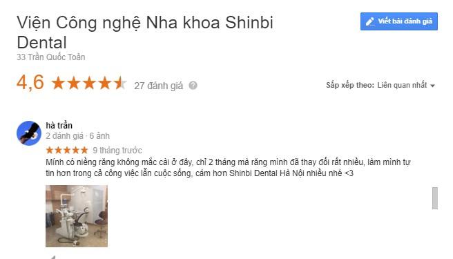 viện công nghệ nha khoa shinbi có tốt không