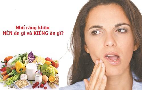 Sau khi nhổ răng khôn ăn gì cho mau lành